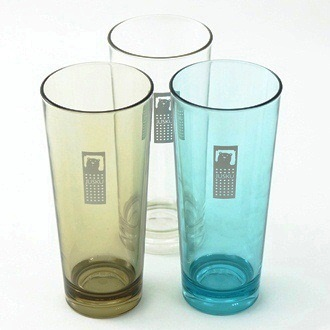 【珍昕】 小彩蜜水杯~3色/透明.墨黑.藍色 (6.8X6.8X15.3cm/300ml)