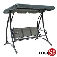 特價LOGIS邏爵~庫伯三人座鞦韆搖椅 休閒椅 庭園椅 遮陽椅 涼亭 戶外椅HC-A2506