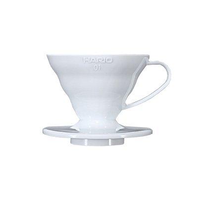 *新品上市*日本知名品牌 HARIO V60 白色樹脂濾杯VD-01W