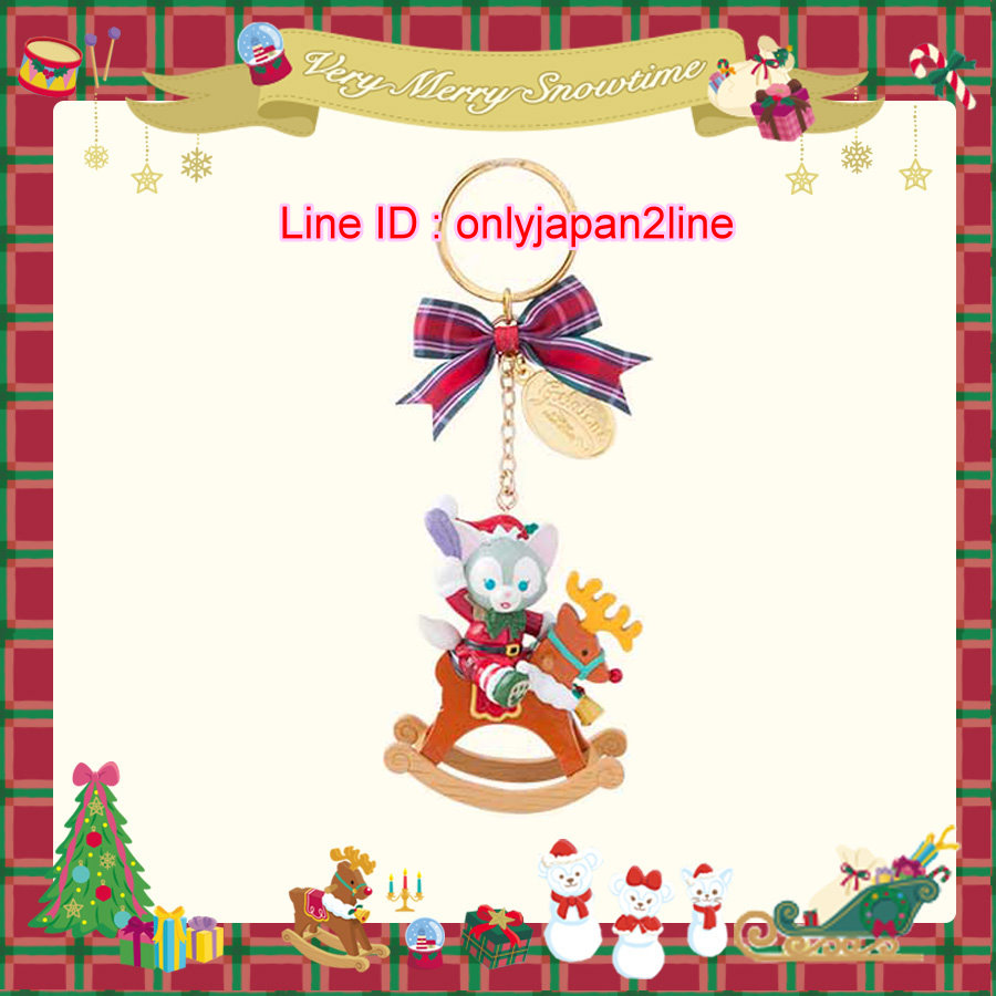【真愛日本】16111200037聖誕節限定麋鹿搖搖馬金牌墜飾鑰匙圈    迪士尼 樂園限定  聖誕節  日本帶回