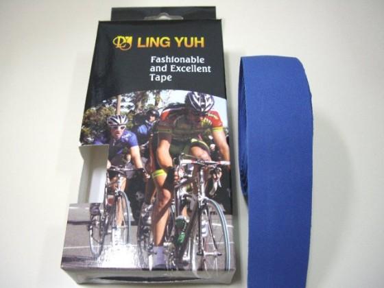 LING YUH跑車車手把帶 台灣製造 EVA輕量化材質 全藍色 精美盒裝《意生自行車》