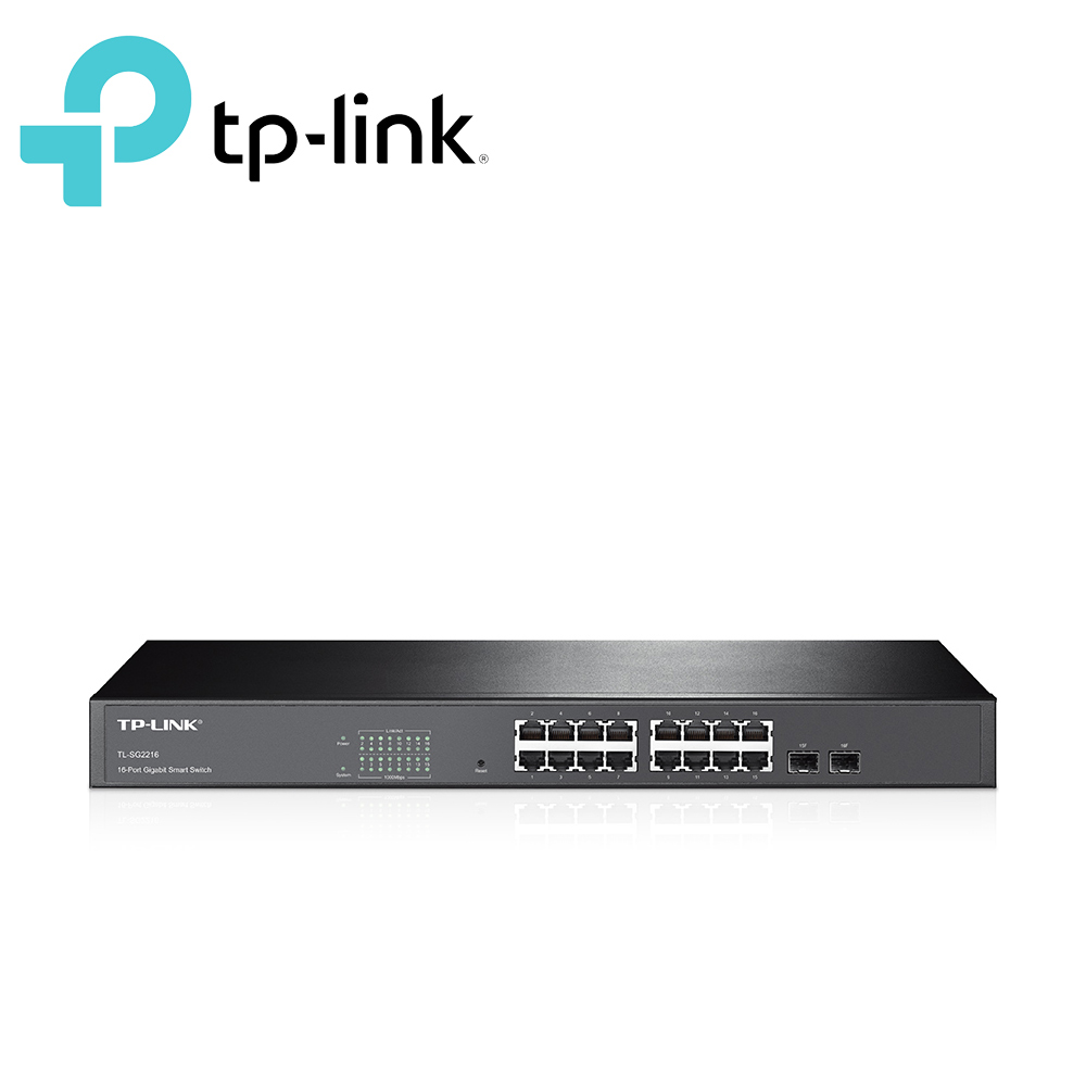 TP-LINK TL-SG2216 16 埠 Gigabit 智慧型網路交換器 + 2 個 Combo SFP 插槽