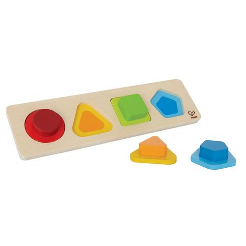 【淘氣寶寶】德國 Hape 愛傑卡 小寶寶形狀拼圖【學習顏色及形狀的辨識 】