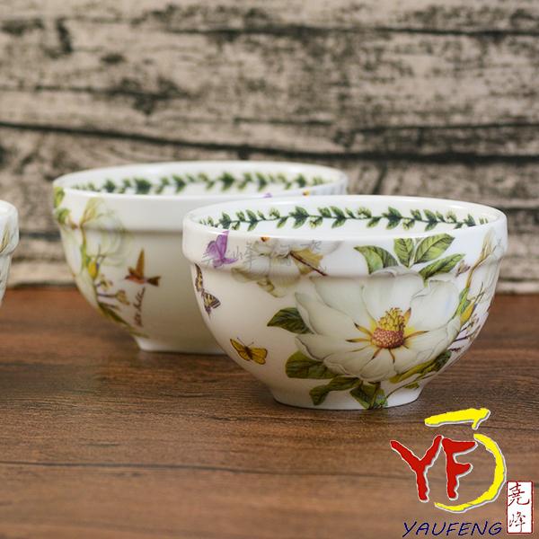 ★堯峰陶瓷★韓國 韓式飯碗 4吋骨瓷碗 白山茶 單入
