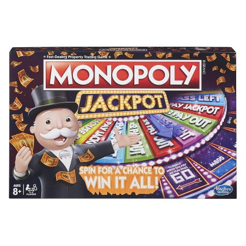 【Playwoods】[MB智樂遊戲]地產大亨-轉盤贏家遊戲 英文版Jackpot Board Game(中文說明書/大富翁Monopoly/交易型/銀行/骰子/家庭遊戲/益智/團康/桌遊/孩之寶Hasbro)