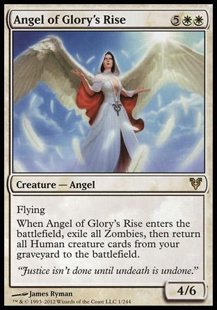 【冰河森林】MTG魔法風雲會Avacyn Restored艾維欣重臨AVR NO.1英文版Angel of Glory s Rise耀揚天使(R卡 白)