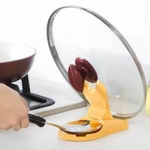 美麗大街【BF283E21E882】多用途折疊式鍋蓋架 廚房用品砧板架菜板架 帶接水盤