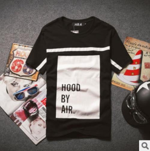 50%OFF【A04016C】歐美潮牌新款Hood By Air PYREX HBA方塊字母純棉男款  GD EXO SHINEE bigbang BBOY