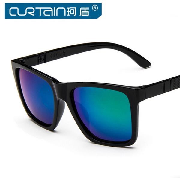 50%OFF【J003729Gls】個性方框太陽眼鏡大框女士墨鏡潮太陽眼鏡 附眼鏡盒 防紫外線 明星款 反光鏡面