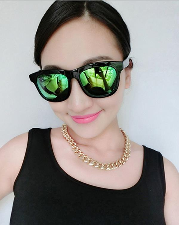 50%OFF【J004195Gls】新款大框復古太陽眼鏡潮時尚圓臉墨鏡太陽眼鏡 附眼鏡盒 防紫外線 明星款 反光鏡面