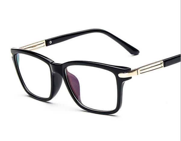 50%OFF【J004197Gls】復古小清新眼鏡框潮百搭大框修飾框架眼鏡金屬腿 附眼鏡盒 防紫外線 明星款 反光鏡面