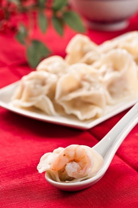 鮮蝦高麗菜水餃