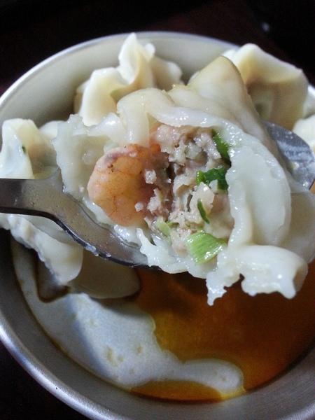 鮮蝦韮菜水餃
