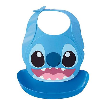 Akachan 阿卡將 新款迪士尼可水洗立體圍兜(史迪奇)