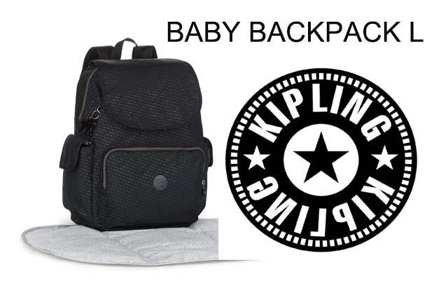 OUTLET代購【KIPLING】雙側口袋大容量旅行後背包 黑色