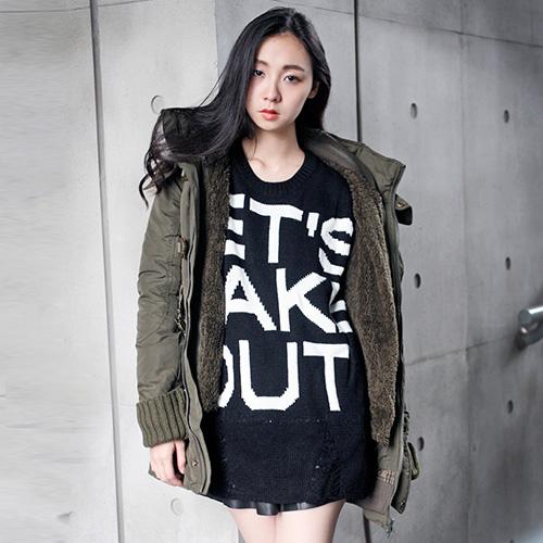 JB outlet 經典N3B蓬鬆毛領軍外(2色)