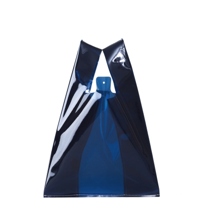 le-junev 正韓 透明系海灘防水手提包 (深藍)