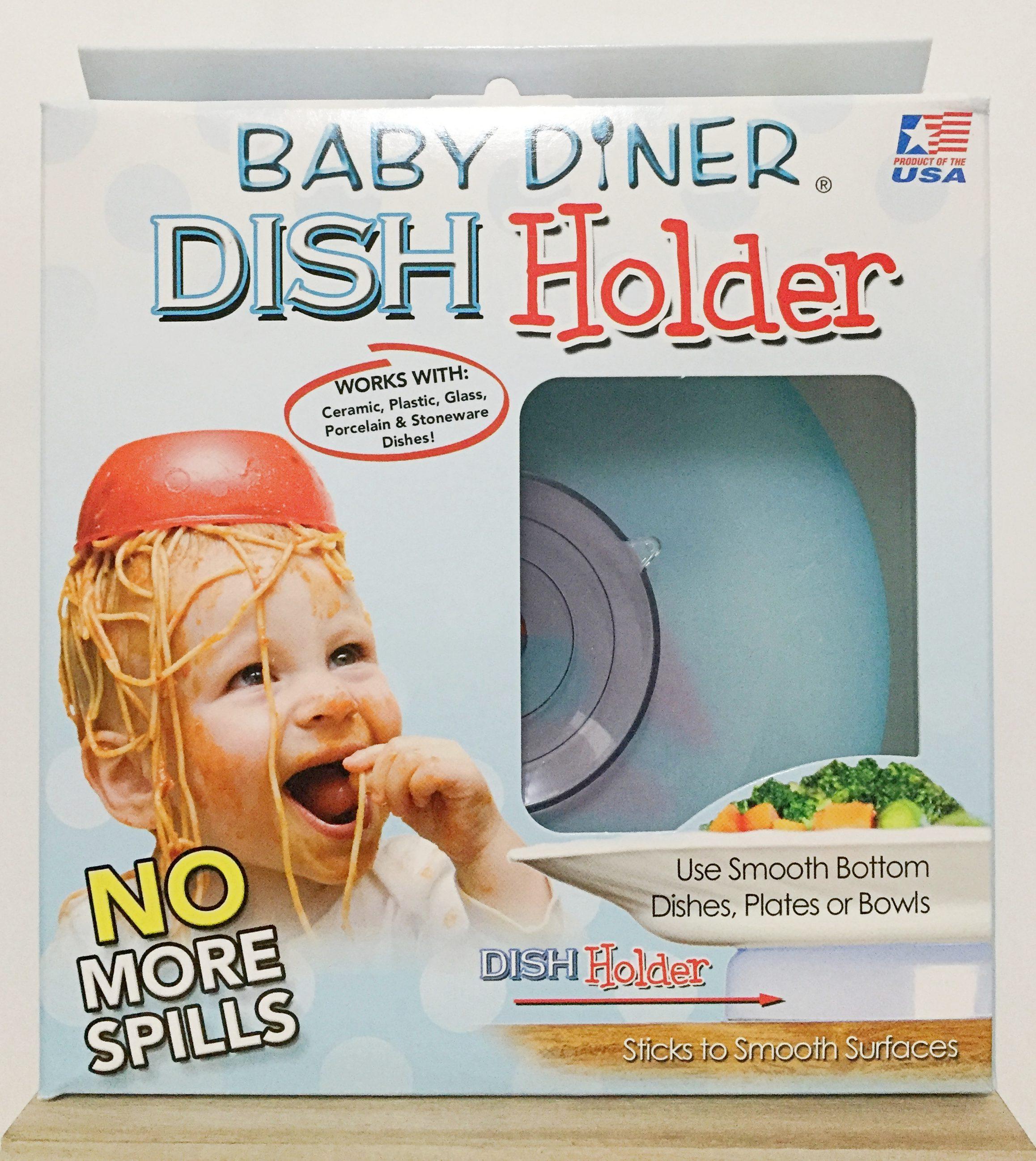 《★Baby Diner Dish Holder 》嬰兒餐具強力吸盤架 美國代購