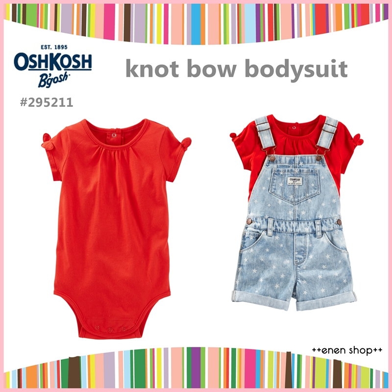 ++enen shop++ OshKosh B'gosh 紅色蝴蝶結款包屁衣 ∥ 9M/12M/18M/24M