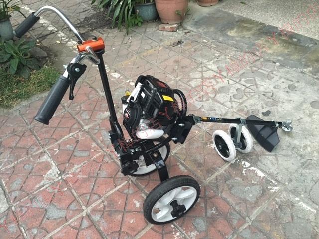 HONDA本田 GX35 三輪(四輪) 推式割草機《四行程環保機種//不排放白煙》ASUKA專利車架