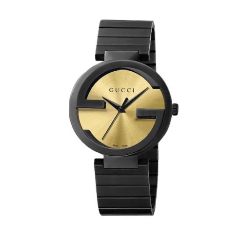 GUCCI Interlocking-G 流行時尚元素腕錶/金/YA133209