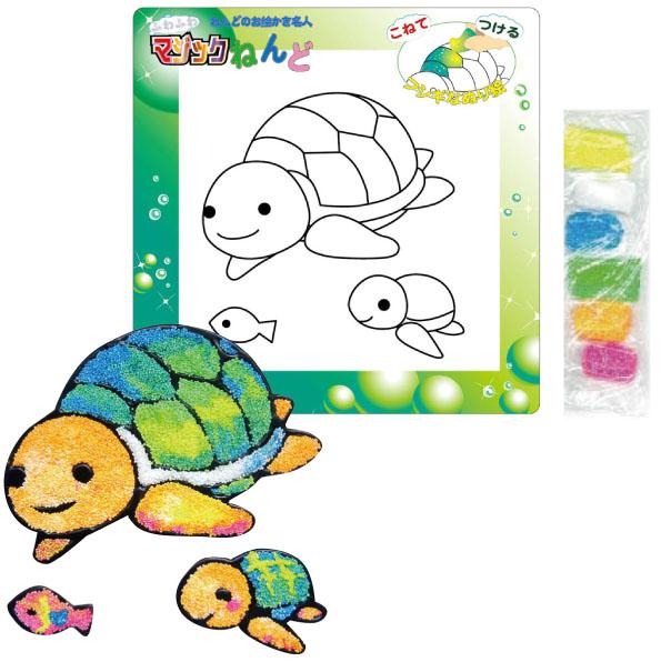 【日本發掘名人】創意拼貼畫-不思議黏土(烏龜)