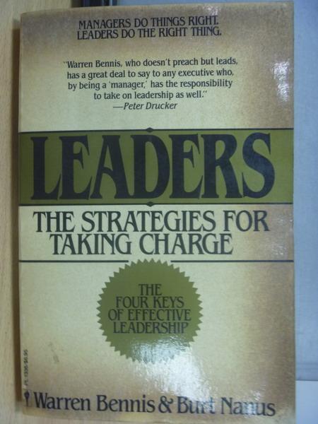 【書寶二手書T8/大學商學_MAF】Leaders_The strategies…Charge_1985年