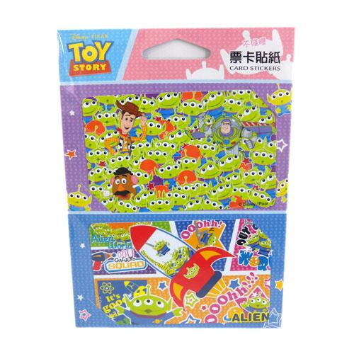 【真愛日本】15082900020 票卡貼-三眼仔火箭 文具 貼紙 悠遊卡票貼 玩具總動員 三眼怪 娃娃機