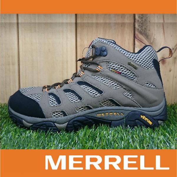 【出清7折】MERRELL MOAB MID GORE-TEX防水 男款高筒登山健行鞋 黃金大底 淺褐色 萬特戶外運動