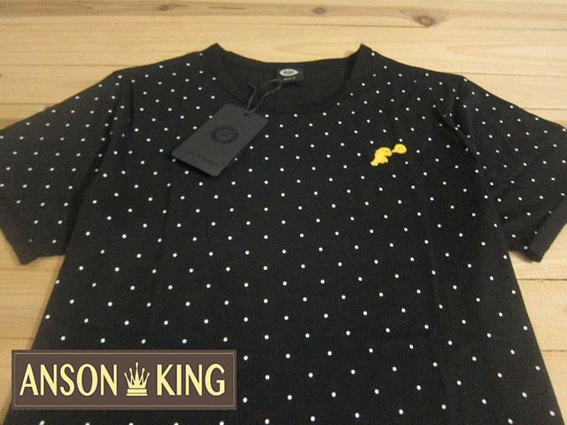[Anson king]outlet國外代購 agnes b.sport b 小恐龍 圓點 短袖 圓領 男款 T恤 黑