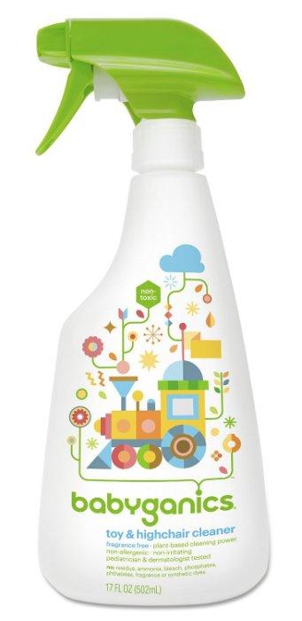 【彤彤小舖】美國品牌 BabyGanics 玩具法寶 玩具桌椅清潔劑 (無香味) 17oz ( 502ml )