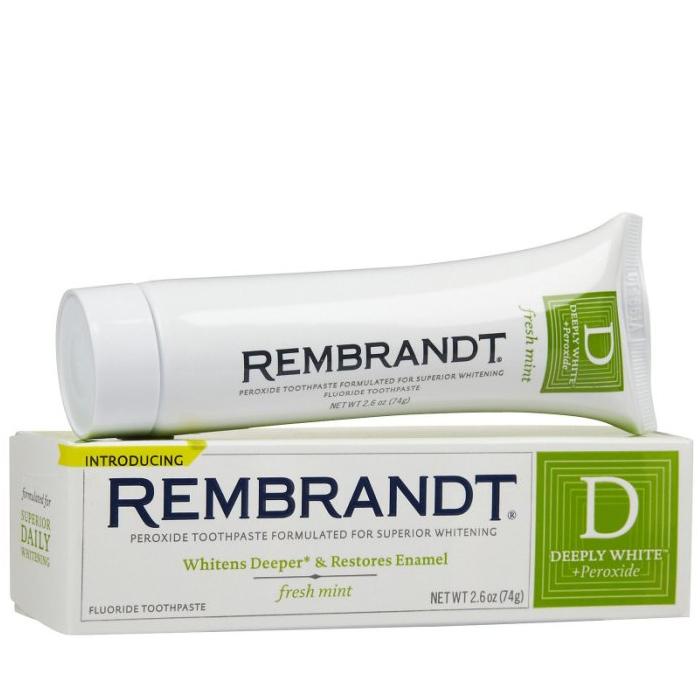 【彤彤小舖】美國Rembrandt 深層增白牙膏 74g / 強化淨白牙膏 85g 美國原廠