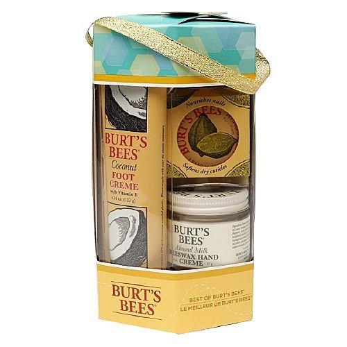 【彤彤小舖】Burt s Bees 禮盒組 椰子腳部修護霜 杏仁牛奶護手霜 檸檬油指甲霜 美國原廠