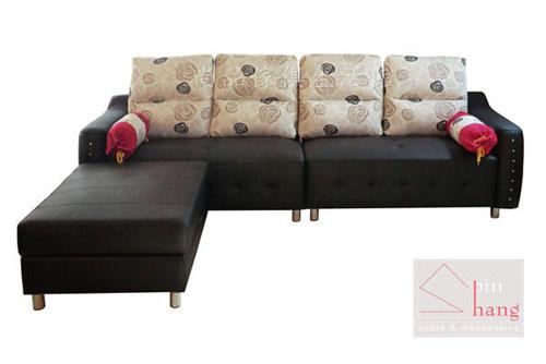 【 尚品傢俱】220-03 吉默爾 L型半牛皮沙發~可訂色