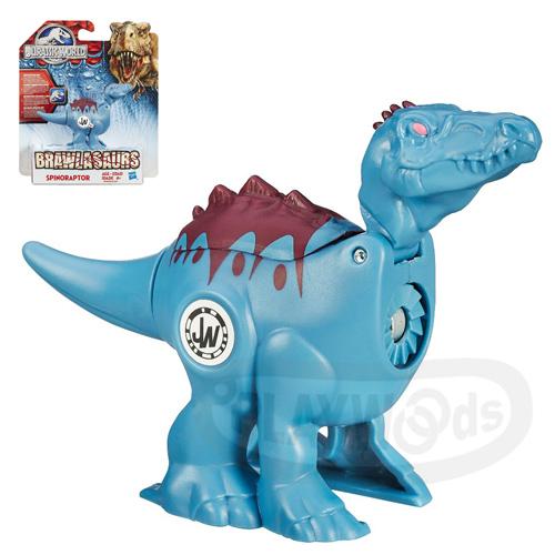 【Playwoods】[侏儸紀世界Jurassic World]戰鬥恐龍組-混種棘龍Spinoraptor(旋轉式發條/對戰/孩之寶/Hasbro/侏羅紀公園/努布拉島/肉食性/帝王暴龍/迅猛龍/雷龍/翼龍/滄龍/電影版)