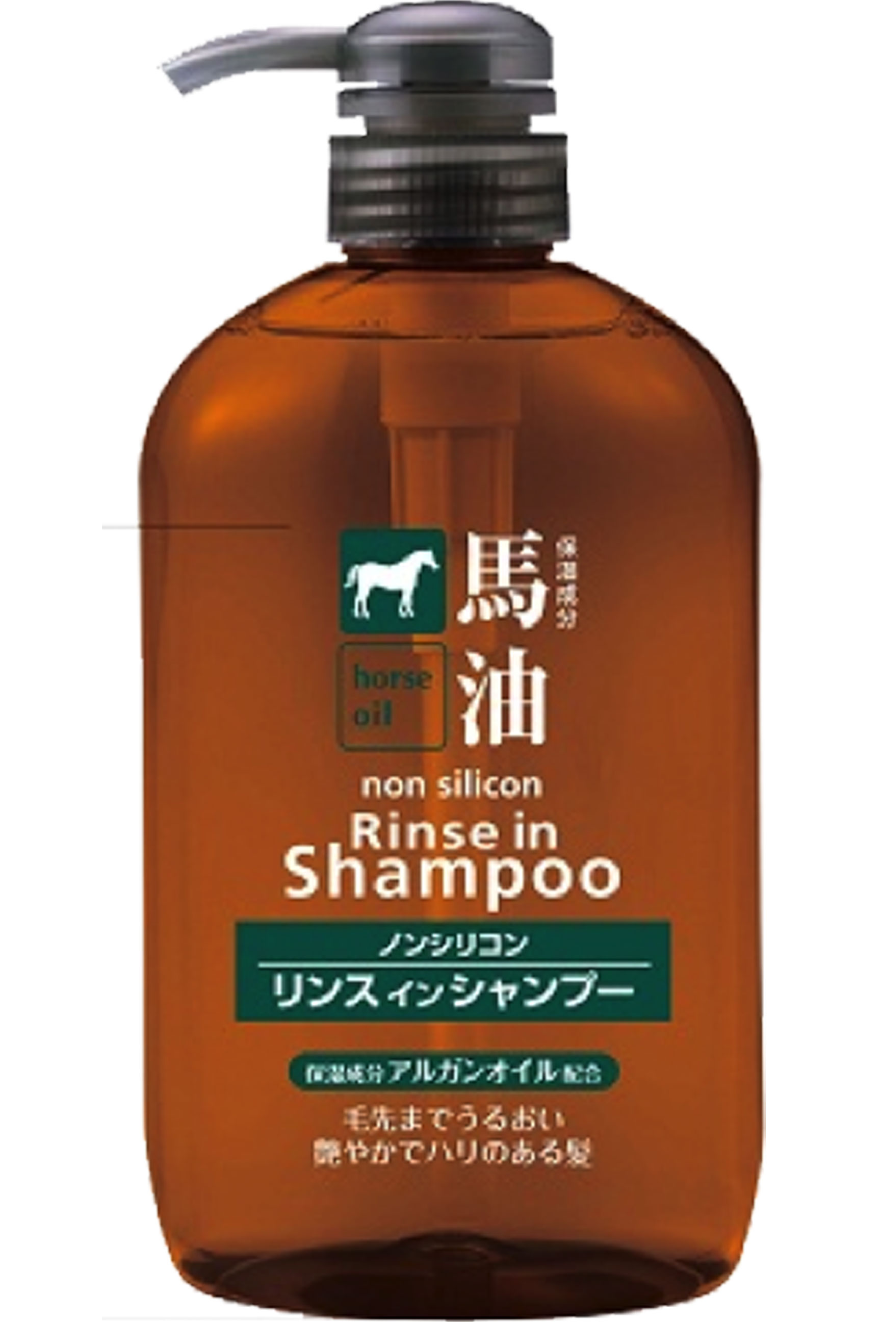 日本熊野二合一馬油無矽靈洗潤髮精600ML 阿志小舖