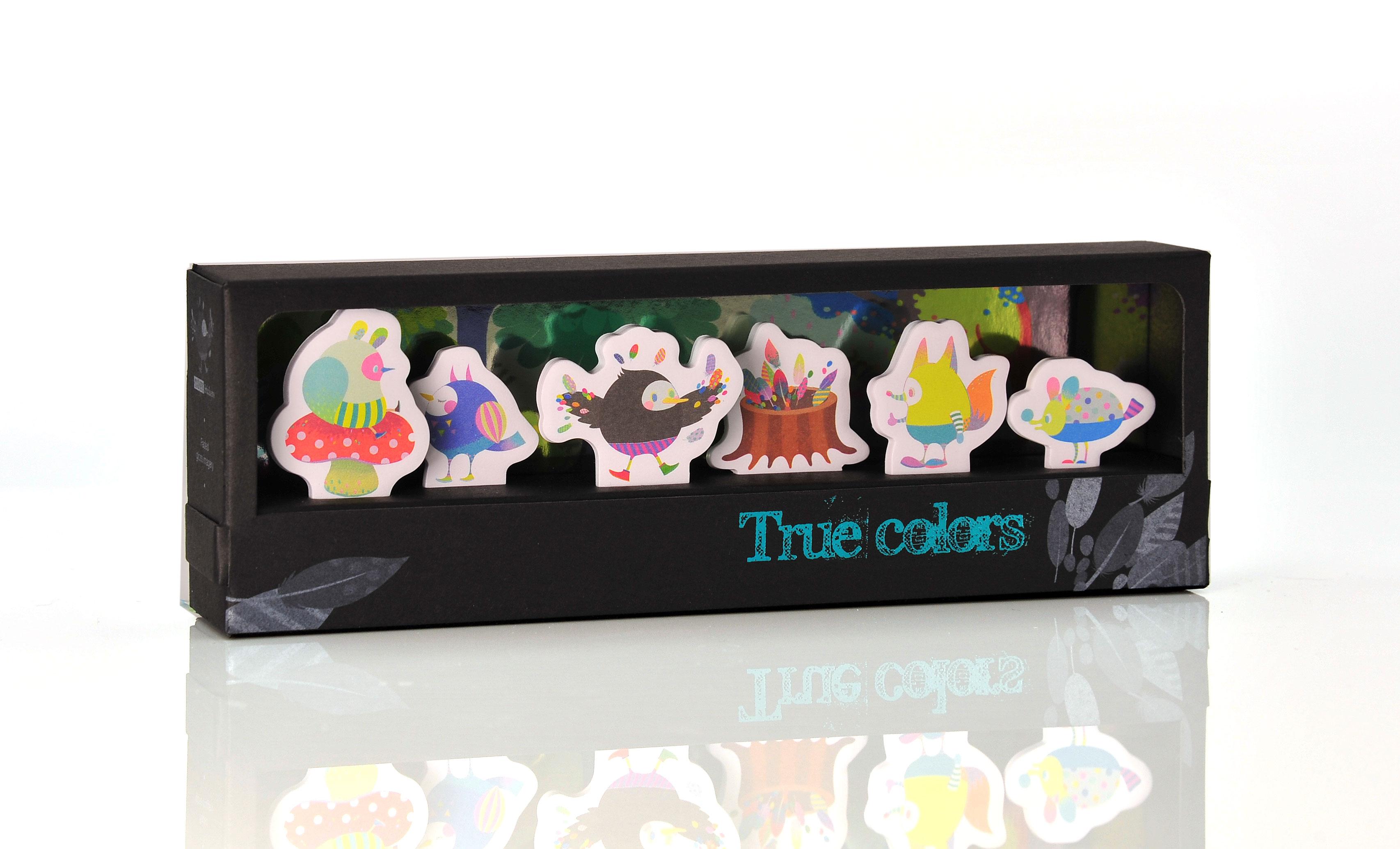 【Miccudo】小鳥 烏鴉 彩色羽毛 作自己 真實的顏色 索引貼書籤 《聖誕禮 》(6款*各20張)