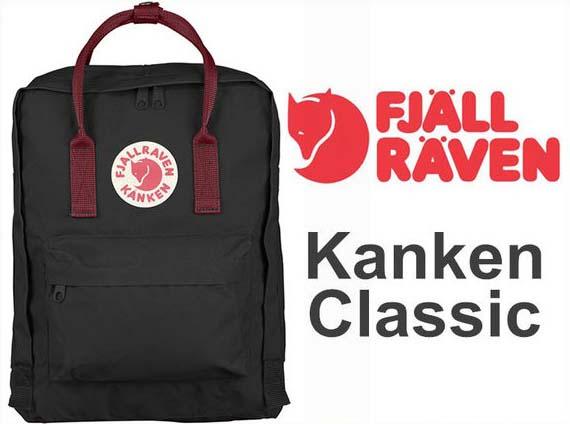 瑞典 FJALLRAVEN KANKEN  Classic 550-326 Black & Ox Red 黑/公牛紅 小狐狸包