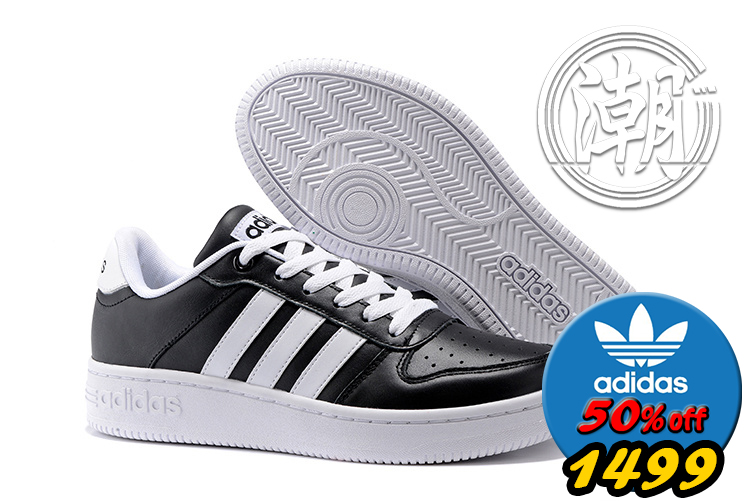 歲末出清Adidas NEO TEAM COURT 黑白 金標武士 復古慢跑鞋 學生百搭 休閒情侶鞋 街頭經典【T114】