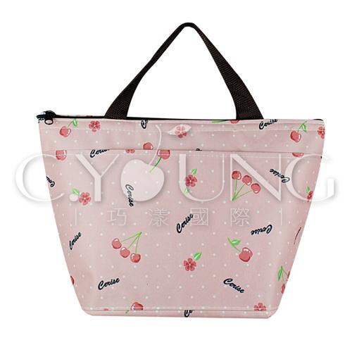 俏麗櫻桃保冰溫提袋/便當袋