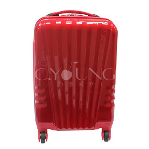 ABS+PC 20吋貝殼線條行李箱/登機箱