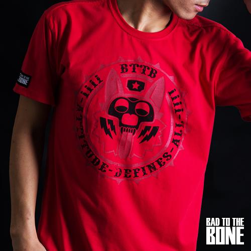 CORGI ATTITUDE 柯基態度 T【閃耀版╱紅】by Bad To The Bone