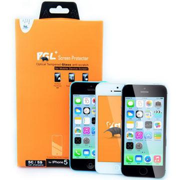{光華新天地創意電子}PGL+ iPhone i5, i5s, i5c 0.33mm 玻璃螢幕保護貼.   喔!看呢來