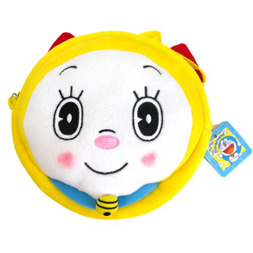【真愛日本】15090400022圓側背包-叮鈴臉  Doraemon 哆啦A夢 小叮噹  側背包  萬用包  小叮鈴