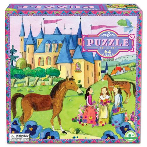 eeBoo 美國益智桌遊 64片拼圖 – 城堡 Castle