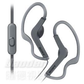 【曜德★新上市】SONY MDR-AS210AP 黑 防水運動耳掛式耳機 免持通話 ★免運★送收納盒★