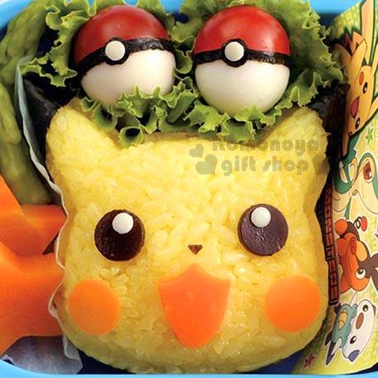 〔小禮堂〕神奇寶貝Pokémon 皮卡丘 造型飯糰壓模《黃.大臉》創意便當輕鬆做