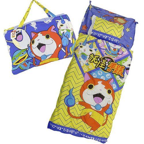 ★衛立兒生活館★兒童睡袋-妖怪手錶 武士慶典(紫藍色)