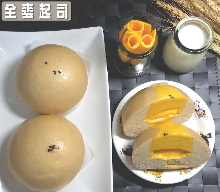 【木子先生老麵養身健康饅頭】高纖 高鈣《全麥起司饅頭-奶素》*5超級整袋組