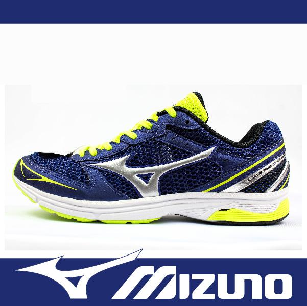 萬特戶外運動 MIZUNO美津濃 J1GA168703 男路跑鞋 WAVE EMPEROR TR 寬楦 耐磨大底 舒適 避震佳 穩定性高 藍+螢黃色